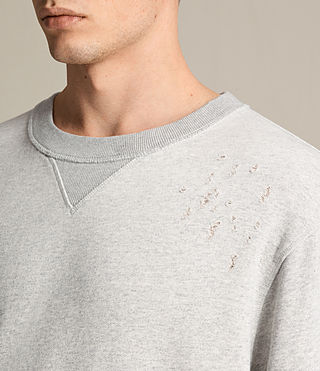 Mens Ictus Crew Sweatshirt (Grey Marl) - product_image_alt_text_2