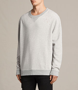 Mens Ictus Crew Sweatshirt (Grey Marl) - product_image_alt_text_3