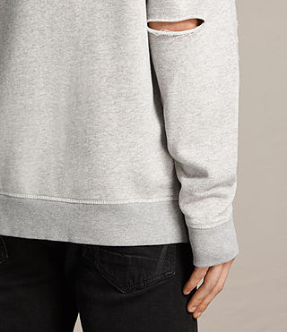 Mens Ictus Crew Sweatshirt (Grey Marl) - product_image_alt_text_4