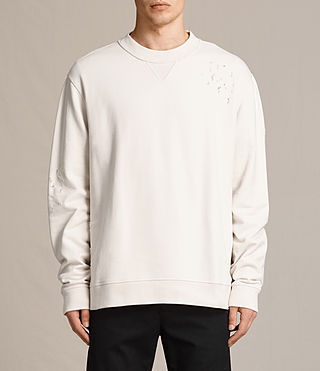 Mens Ictus Crew Sweatshirt (Vintage White) - product_image_alt_text_1
