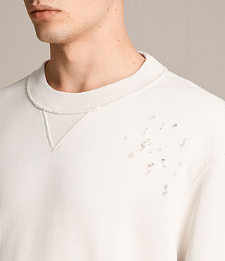 Men's Ictus Crew Sweatshirt (Vintage White) - product_image_alt_text_2