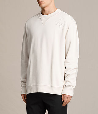 Mens Ictus Crew Sweatshirt (Vintage White) - product_image_alt_text_3