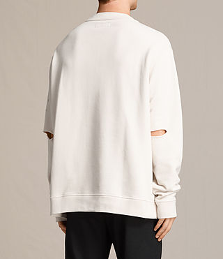 Men's Ictus Crew Sweatshirt (Vintage White) - product_image_alt_text_4