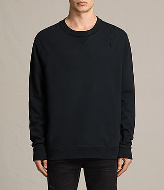 Mens Ictus Crew Sweatshirt (Jet Black) - product_image_alt_text_1