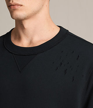 Mens Ictus Crew Sweatshirt (Jet Black) - product_image_alt_text_2