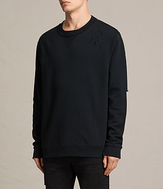 Mens Ictus Crew Sweatshirt (Jet Black) - product_image_alt_text_3