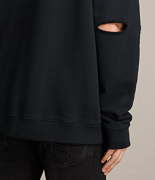 Mens Ictus Crew Sweatshirt (Jet Black) - product_image_alt_text_4