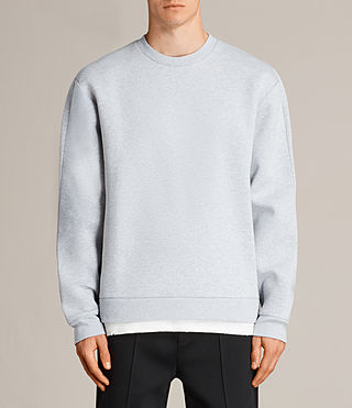Mens Remus Crew Sweatshirt (GREY MARL/PUTTY) - product_image_alt_text_1