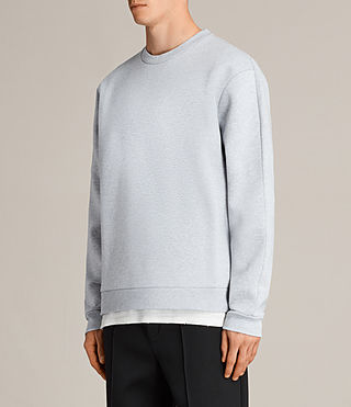Mens Remus Crew Sweatshirt (GREY MARL/PUTTY) - product_image_alt_text_3