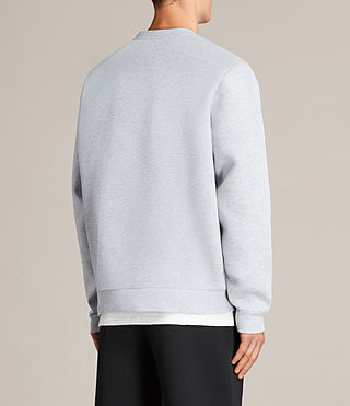 Mens Remus Crew Sweatshirt (GREY MARL/PUTTY) - product_image_alt_text_4