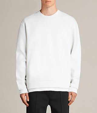 Mens Remus Crew Sweatshirt (IVORY/PUTTY BROWN) - product_image_alt_text_1