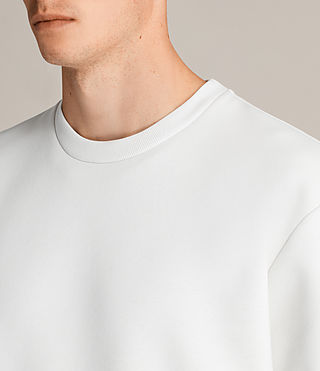 Mens Remus Crew Sweatshirt (IVORY/PUTTY BROWN) - product_image_alt_text_2