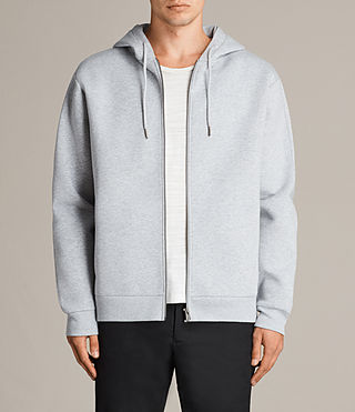 Mens Remus Zip Hoody (GREY MARL/PUTTY) - product_image_alt_text_1