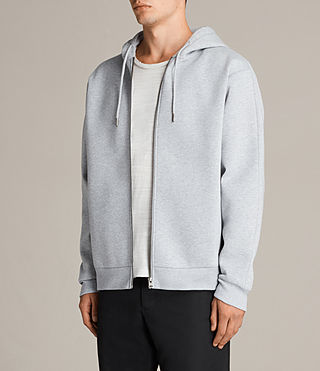 Men's Remus Zip Hoody (GREY MARL/PUTTY) - product_image_alt_text_3