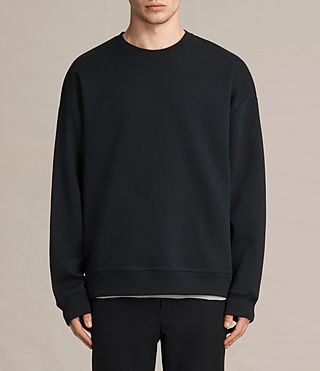 Mens Hibern Crew Sweatshirt (Jet Black) - product_image_alt_text_1