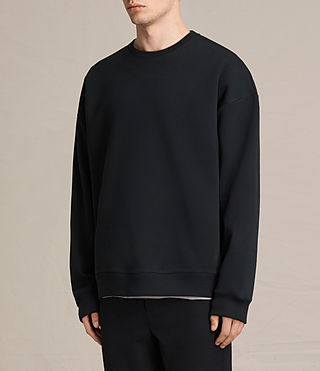 Mens Hibern Crew Sweatshirt (Jet Black) - product_image_alt_text_3