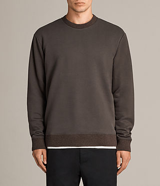 Men's Elders Crew Sweatshirt (Washed Khaki) - Image 1