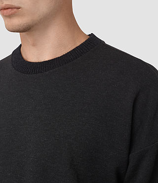 Hommes Elders Crew Sweatshirt (Cinder Marl) - product_image_alt_text_2