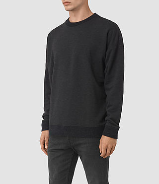Hommes Elders Crew Sweatshirt (Cinder Marl) - product_image_alt_text_3
