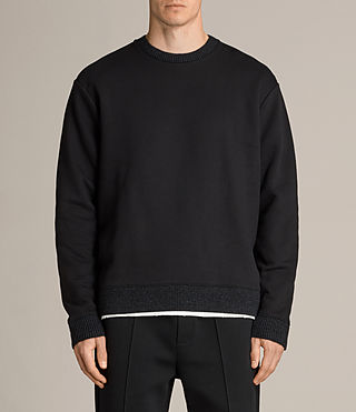 Herren Elders Crew Sweatshirt (Jet Black) -