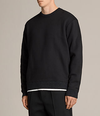 Men's Elders Crew Sweatshirt (Jet Black) - product_image_alt_text_3