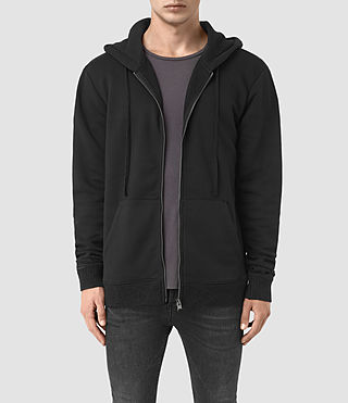 Hommes Elders Zip Hoody (Jet Black)