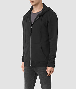 Mens Elders Zip Hoody (Jet Black) - product_image_alt_text_2