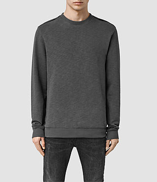 Mens West Crew (Washed Black)