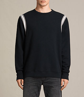 Hombres Magist Crew Sweatshirt (BLACK/PUTTY/WHITE)