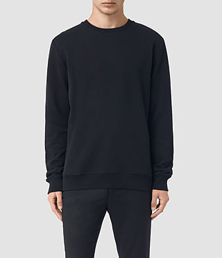 Uomo Hider Crew Sweatshirt (BLACK/INK NAVY) -