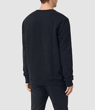 Uomo Hider Crew Sweatshirt (BLACK/INK NAVY) - product_image_alt_text_4