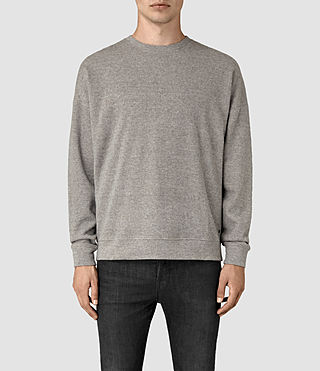 Hombre Ryshe Crew Sweatshirt (Taupe Marl) - product_image_alt_text_1
