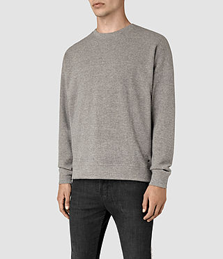 Hombre Ryshe Crew Sweatshirt (Taupe Marl) - product_image_alt_text_2