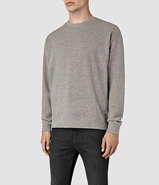 Hombres Ryshe Crew Sweatshirt (Taupe Marl) - product_image_alt_text_2