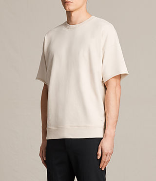 Hombres Minerva Short Sleeve Crew Sweatshirt (ECRU CHALK) - product_image_alt_text_2