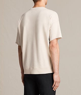 Hombres Minerva Short Sleeve Crew Sweatshirt (ECRU CHALK) - product_image_alt_text_3