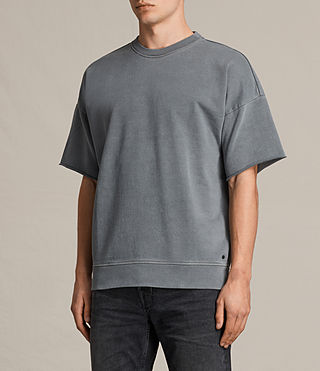 Hombres Minerva Short Sleeve Crew Sweatshirt (Vintage Black) - product_image_alt_text_2