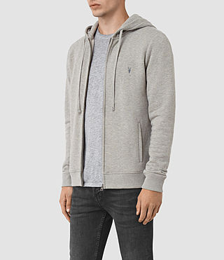 Hommes Wolfe Hoody (Smoke Marl) - product_image_alt_text_2