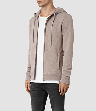 Hommes Wolfe Hoody (Taupe Marl) - product_image_alt_text_2