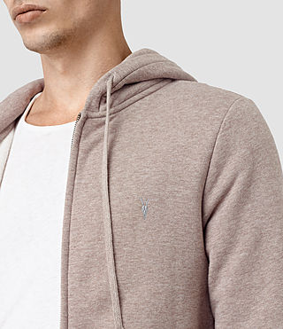 Hommes Wolfe Hoody (Taupe Marl) - product_image_alt_text_4