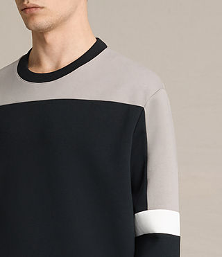 Hombre Taylen Crew Sweatshirt (BLACK/PUTTY/WHITE) - product_image_alt_text_1