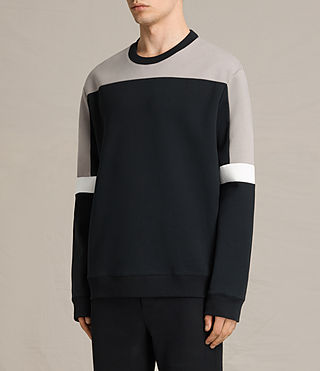 Herren Taylen Crew Sweatshirt (BLACK/PUTTY/WHITE) - product_image_alt_text_3