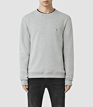 Mens Wilde Crew Sweatshirt (Grey Marl)