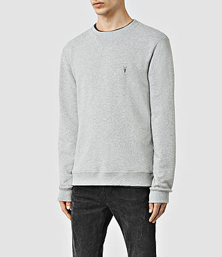 Hombres Wilde Crew Sweatshirt (Grey Marl) - product_image_alt_text_2