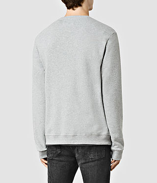 Hombres Wilde Crew Sweatshirt (Grey Marl) - product_image_alt_text_3