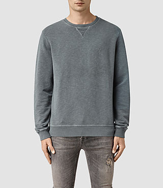 Hombre Wilde Crew Sweatshirt (WASHED OCEAN BLUE) - product_image_alt_text_1