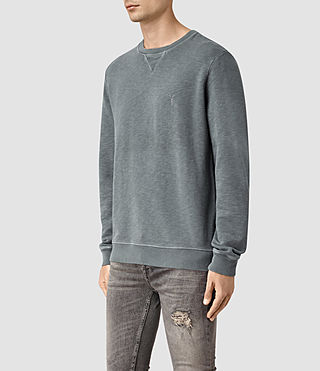 Hommes Wilde Crew Sweatshirt (WASHED OCEAN BLUE) - product_image_alt_text_2