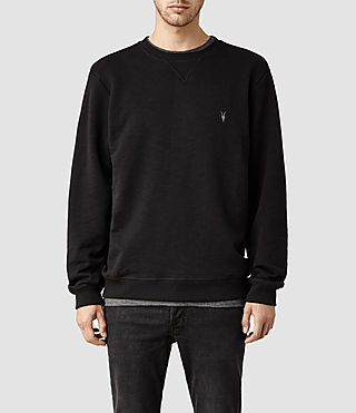 Mens Wilde Crew Sweatshirt (Jet Black) - product_image_alt_text_1