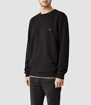 Hombre Wilde Crew Sweatshirt (Jet Black) - product_image_alt_text_2