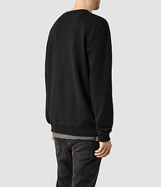 Mens Wilde Crew Sweatshirt (Jet Black) - product_image_alt_text_3